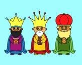Desenho Os 3 Reis Magos pintado por alais