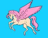 Desenho Pégaso a voar  pintado por Margarida-