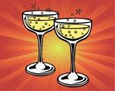 Desenho Taças de champanhe pintado por marilurdes