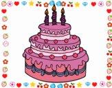 Desenho Torta de Aniversário pintado por sonhadora