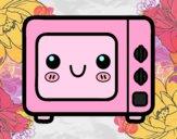 Desenho Um forno micro-ondas pintado por Margarida-