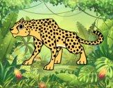 Desenho Um guepardo pintado por wandersong