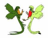 Desenho Aves com caudas grandes pintado por brunna2004