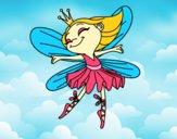 Desenho Fada com alas pintado por Margarida-