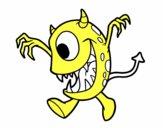 Desenho Monstro com um olho pintado por VitoriaSDP