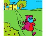 Desenho Capuchinho vermelho 3 pintado por tiagoms