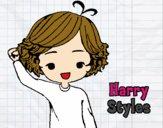 Desenho Harry Styles pintado por nand