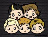 Desenho One Direction 2 pintado por nand