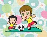 Desenho Futebol durante o recreio pintado por ImShampoo