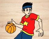 Desenho Junior jogador de basquete pintado por susana1111