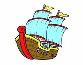 Desenho Barco de vela pintado por Nathaly be
