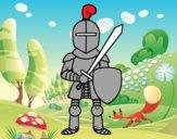 Cavaleiro com espada e escudo