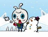 Desenho Dia nevoso pintado por ImShampoo