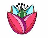 Desenho Flor de túlipa pintado por Catita