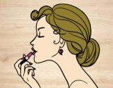 Desenho Maquiagem dos lábios pintado por Fheds