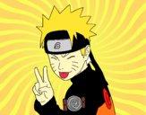 Naruto puxando para fora a língua