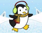 Pinguim com cachecol