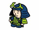 Samurai com armadura