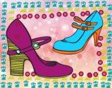 Sapatos de calcanhar