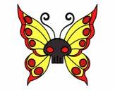 Desenho Borboleta Emo pintado por MelDeAbelh