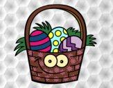 Cesta ovos de páscoa