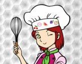 Desenho Cozinheira pintado por Danguinha