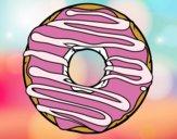 Desenho Donut pintado por Anapestana