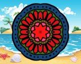 Desenho Mandala mosaico pintado por Anapestana