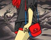 Desenho Menina com saco pintado por ryan433