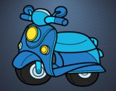 Desenho Motocicleta Vespa pintado por pricilla