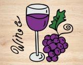 Desenho Vinho tinto pintado por Anapestana