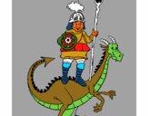 Cavaleiro São Jorge e o dragão