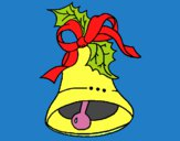 Desenho Sino de natal pintado por mcmazer