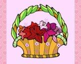 Cesta de flores 4