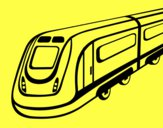Desenho Comboio de alta velocidade pintado por DanieliWM