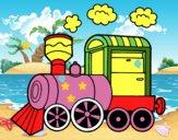 Desenho Locomotiva a vapor pintado por DanieliWM