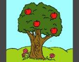 Desenho Macieira  pintado por Nati2606
