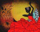 Desenho Mulher flamenco pintado por danielt