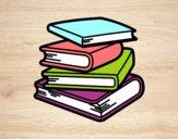 Desenho Pilha de livros pintado por lulilzla