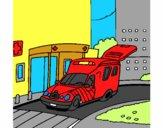 Ambulância no hospital