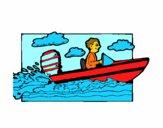 Desenho Aquáticos barco pintado por vitorcely