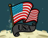 Desenho Bandeira dos Estados Unidos pintado por vitorcely