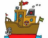 Desenho Barco com âncora pintado por vitorcely