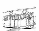 Eléctrico com passageiros