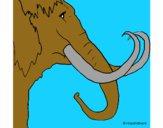 Desenho Mamute pintado por vitorcely