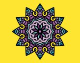 Mandala estrela floral