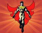 Um Super herói a voar