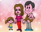 Desenho Família feliz pintado por Gigi2009