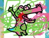 Crocodilo a gritar