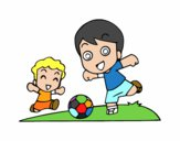Futebol durante o recreio